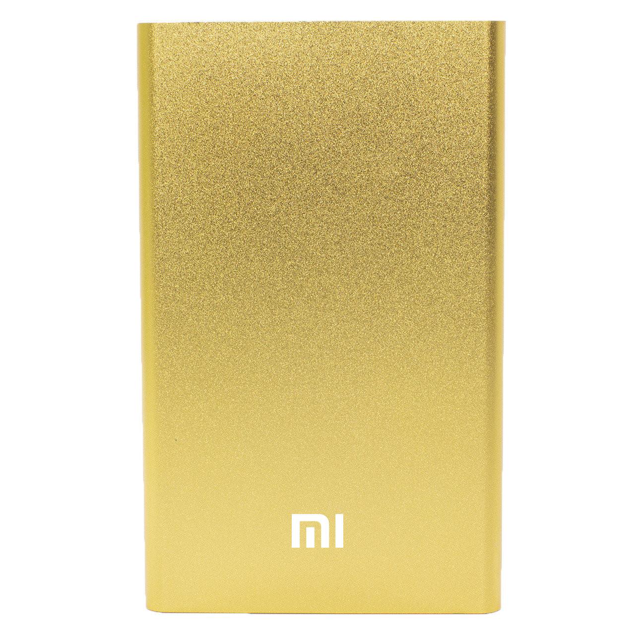 Повер банк Xiaomi 10400 mAh Gold зарядний пристрій зовнішній акумулятор компактний (Репліка)