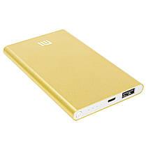 Повер банк Xiaomi 10400 mAh Gold зарядний пристрій зовнішній акумулятор компактний (Репліка), фото 2