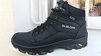 Зимняя мужская кожаная обувь eco slalom waterproof