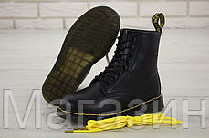 Мужские зимние ботинки Dr. Martens 1460 Winter Fur Logo Black Доктор Мартинс С МЕХОМ черные, фото 3