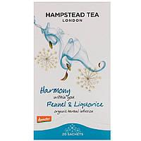 Hampstead Tea, Organic Fairtrade Фенхель и Солодка, 20 Пакетиков 1.06 унции (30 г)