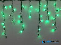 Светодиодная гирлянда уличная Бахрома Flash 3х0.7 м 100LED Каучук Зеленый, фото 1