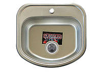 Врезная кухонная мойка Platinum 49*47(46) (cм) в покрытии Polish (полированная), с толщиной 0,8 (мм)