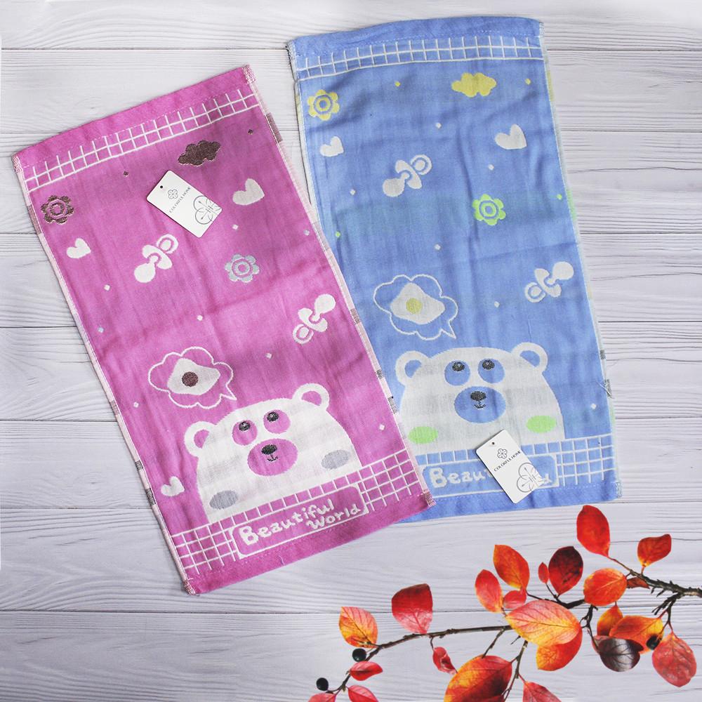 Яркие хлопковые полотенца для рук с красочным рисунком. 100% cotton