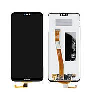 Дисплей для Huawei P20 Lite Dual Sim (ANE-L21 | ANE-LX1) | Nova 3e с сенсорным стеклом (Черный) Оригинал Китай