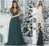 Ошатне довге плаття з декольте 20518, фото 1