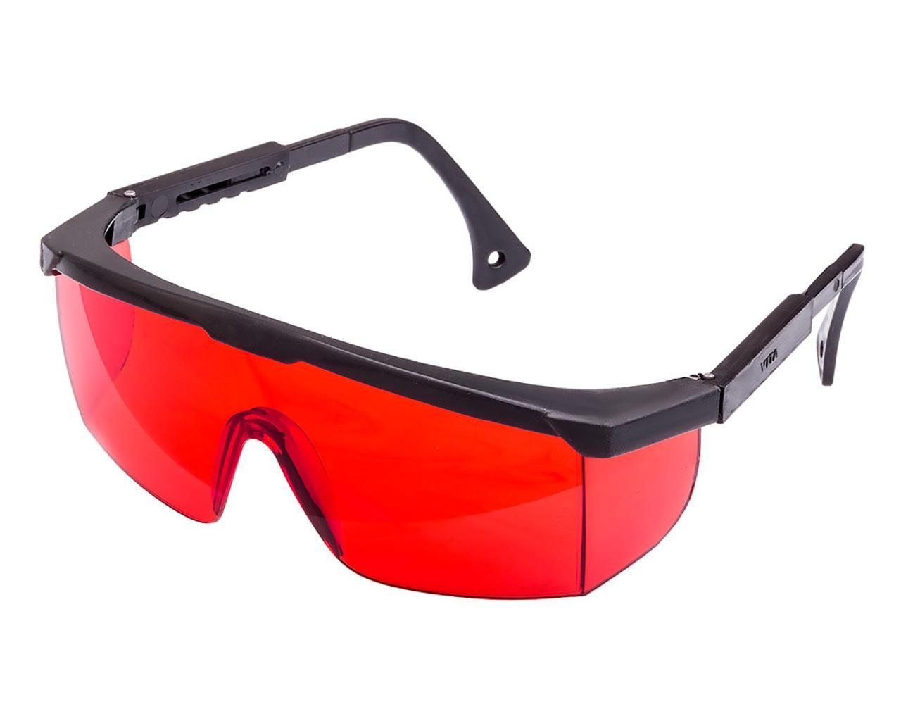 Очки защитные Комфорт-к красные для лазера с регулируемой дужкой