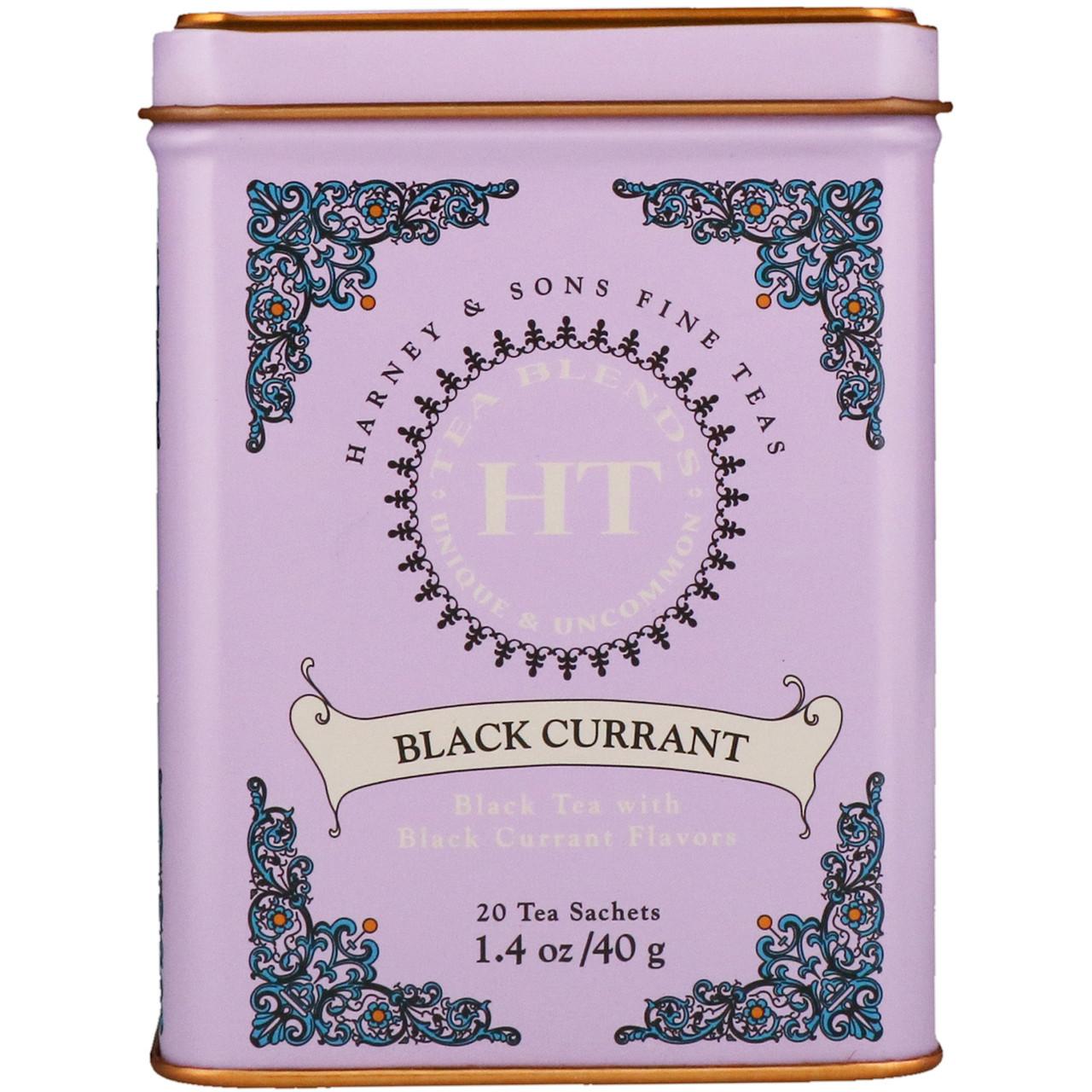 Чай с черной смородиной, Harney & Sons, 40 г.