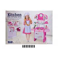 Детская игрушечная Кухня, WD-P19 плита с посудой, звук, свет