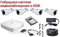 Система видеонаблюдения гибридная для наружной установки (с HDD 500 Гб)