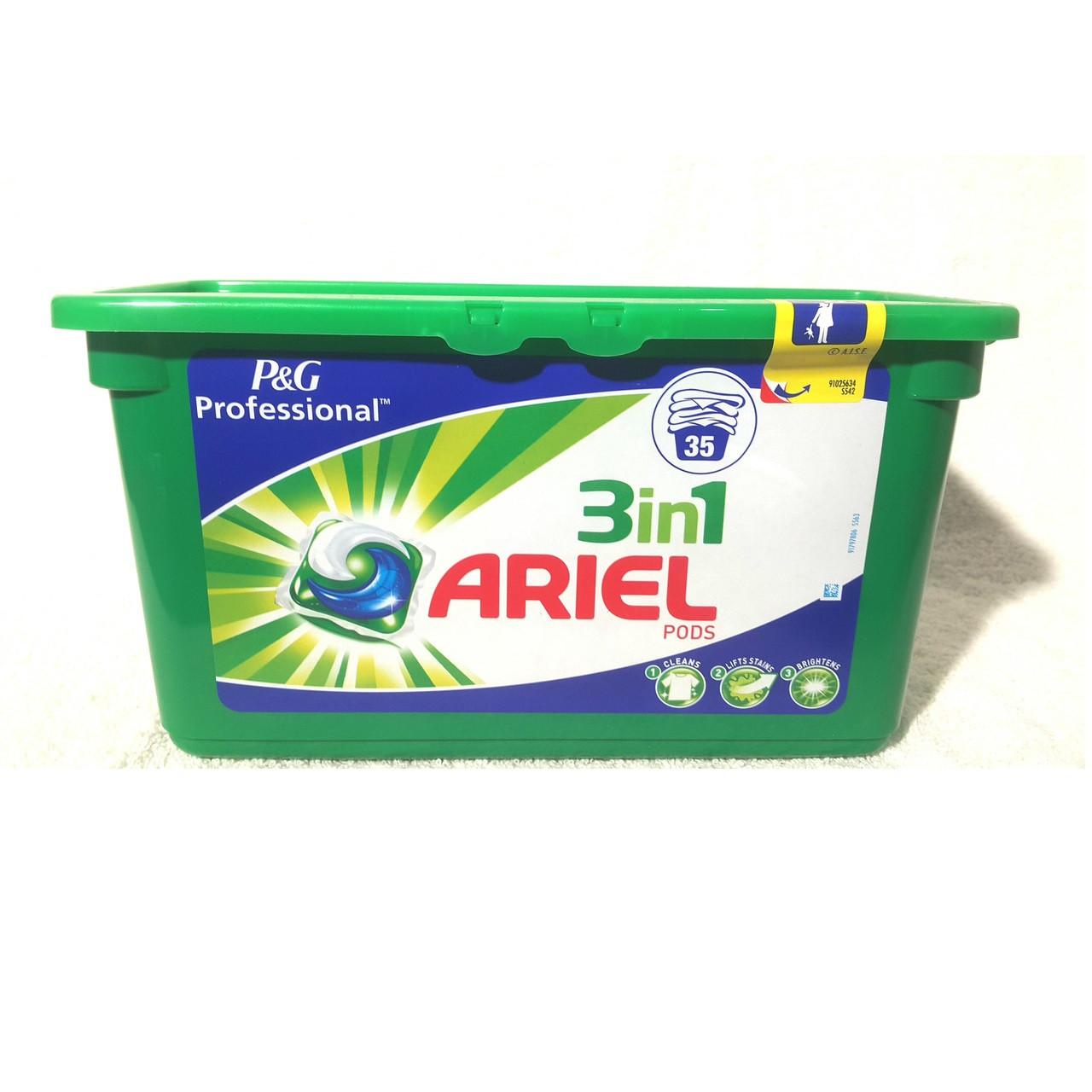 Капсулы для стирки Ariel Pods  3 в 1 38 шт в упаковке