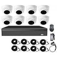 Комплект HD видеонаблюдения на 8 камер CoVi Security AHD-8D KIT