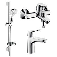 Focus Набор смесителей для ванны (31607000+31940000+26553400)