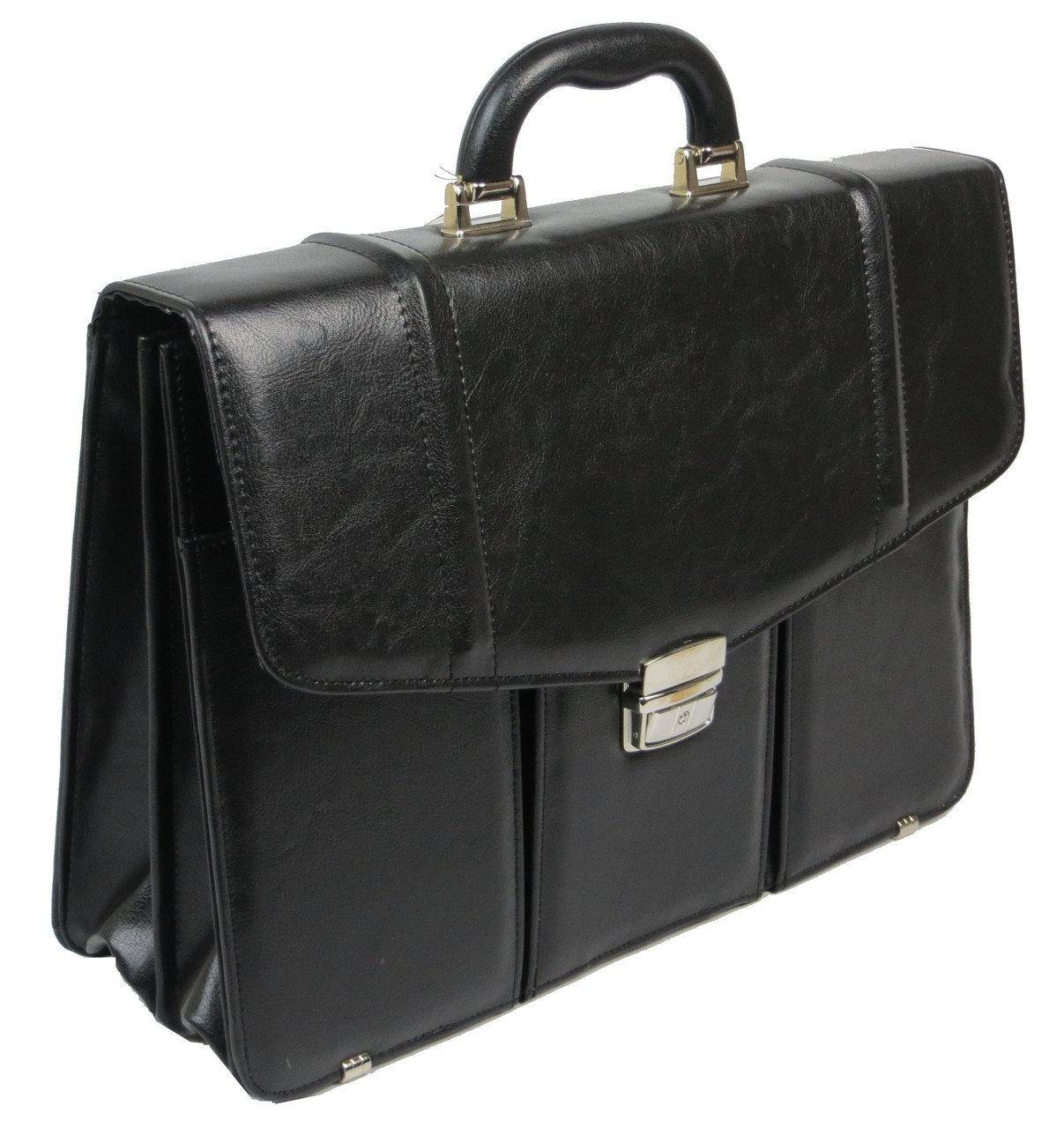 Портфель мужской из эко кожи A-Art 55T3K черный