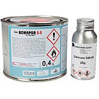 Термостойкий клей Bonapur S-5 (под пульвер) для перетяжки торпеды 0,5л.(в комплекте с отвердителем  25мл).