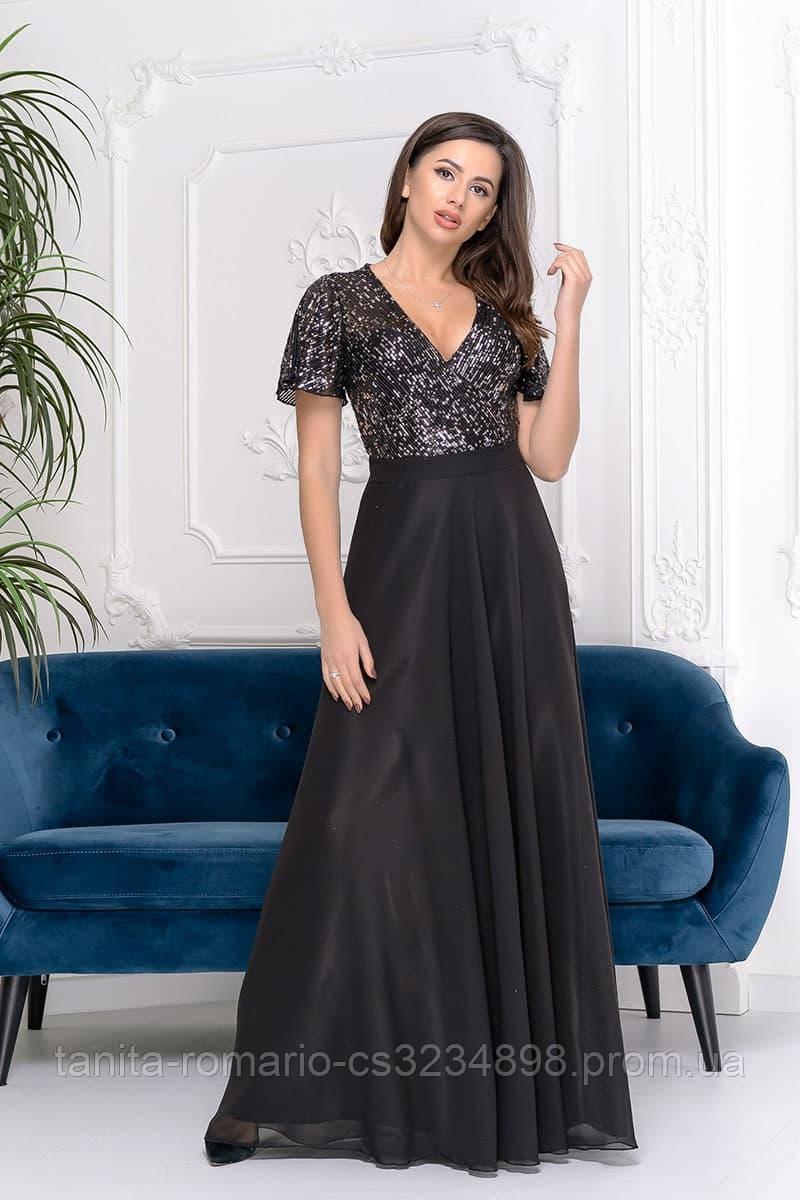Вечернее платье 9158e Черный