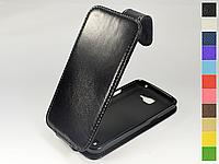 Откидной чехол из натуральной кожи для LG K4 K130 Dual Sim