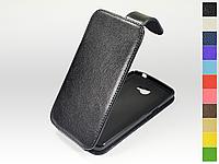 Откидной чехол из натуральной кожи для LG K5 X220 Dual Sim
