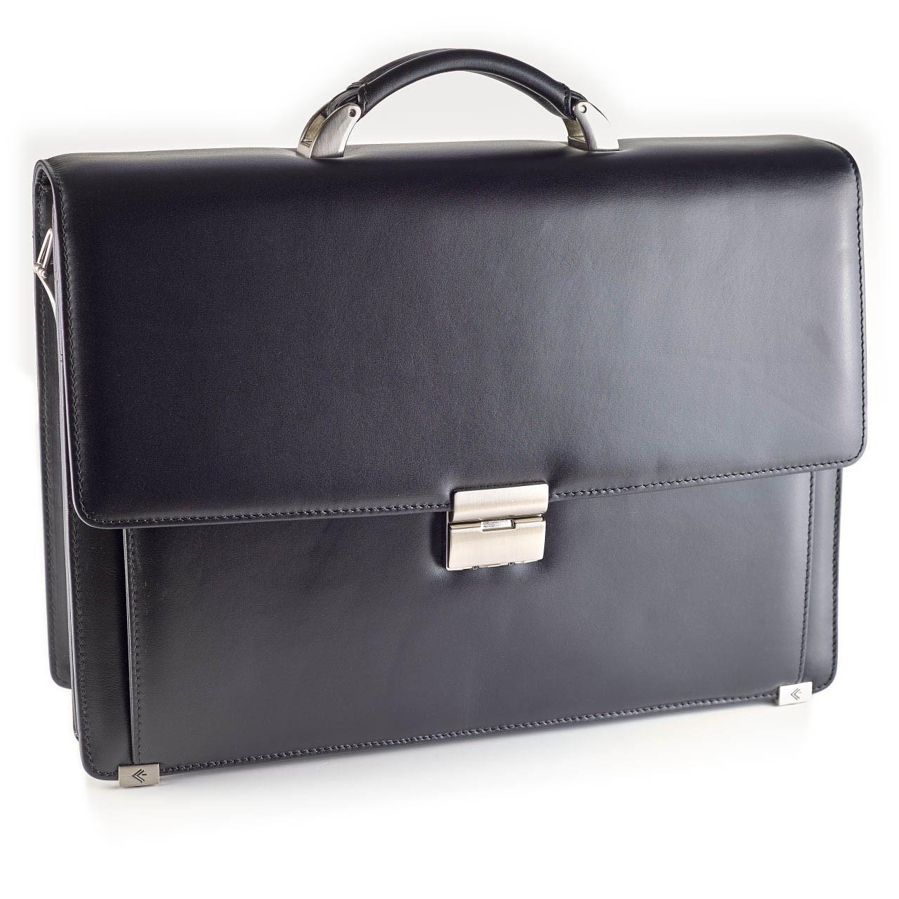 Кожаный портфель мужской Eminsa 7051-20-1 большой черный