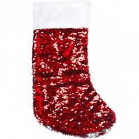 Носки новогодние с пайетками