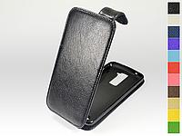 Откидной чехол из натуральной кожи для LG K8 K350E LTE Dual Sim
