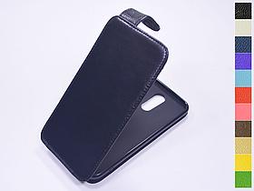 Откидной чехол из натуральной кожи для LG K10 2017 (M250)