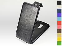 Откидной чехол из натуральной кожи для LG K10 K410