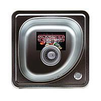 Врезная кухонная мойка Platinum 38*38 (cм) в покрытии Decor (структурная), с толщиной 0,6 (мм)