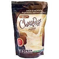 HealthSmart Foods, Inc., Протеиновый коктейль ChocoRite, Шоколадная помадка брауни, 14,7 унций (418 г)
