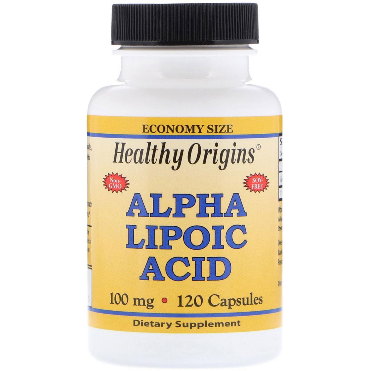 Альфа-липоевая кислота, Healthy Origins, 100 мг, 120