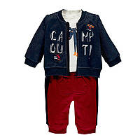 Комплект (футболка дл. рукав, толстовка и брюки)  для мальчика MEK (р. 86-98 ) 193MDEM006-148