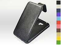 Откидной чехол из натуральной кожи для LG K580 X cam Dual Sim