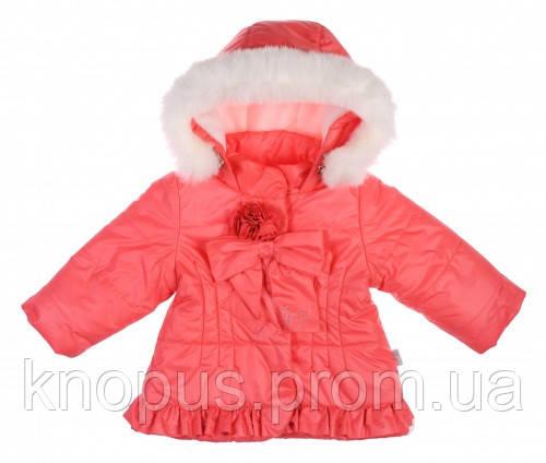 Куртка для девочек,  коралловая,Garden baby, размер 122