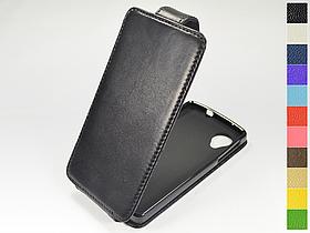 Откидной чехол из натуральной кожи для LG Nexus 5 D820