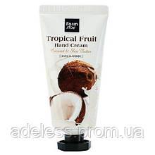 Крем для рук с кокосом и маслом Ши Farm Stay Tropical Fruit Hand Cream Coconut & Shea Butter, 50 мл.