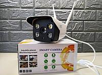 Беспроводная уличная камера видеонаблюдения CAD 90S10B IP Wi-Fi с сигнализацией, датчиком движения 2мп