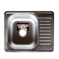 Врезная кухонная мойка Platinum 58*48 (мм) в покрытии Рolish(полирванная), с толщиной 0,8 (мм)