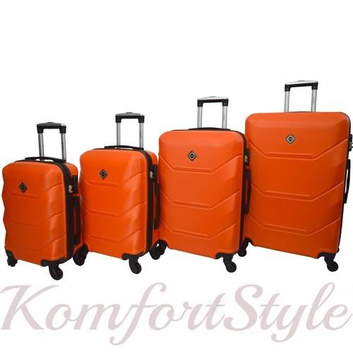 Дорожный набор чемоданов 4 штуки Bonro 2019 оранжевый (10500201)