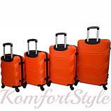 Дорожный набор чемоданов 4 штуки Bonro 2019 оранжевый (10500201), фото 2