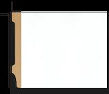 Плинтус напольный DECOLUX DSK12515, лепной декор из дюрополимера, фото 2