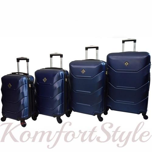 Дорожный набор чемоданов 4 штуки Bonro 2019 темно-синий (10500204)