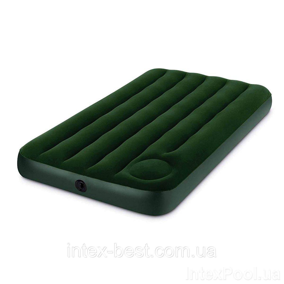 Односпальный надувной матрас Intex 66950 (191х76х22 см.) встроенный насос
