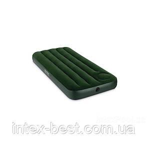 Односпальный надувной матрас Intex 66950 (191х76х22 см.) встроенный насос, фото 2