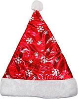 Новогодняя шапка атласная