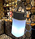 Портативная колонка c подсветкой NOUS H4 с Power Bank Silver, фото 6