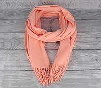 Нежный кашемировый шарф, палантин Cashmere 7480-1 оранжевый, расцветки, фото 1