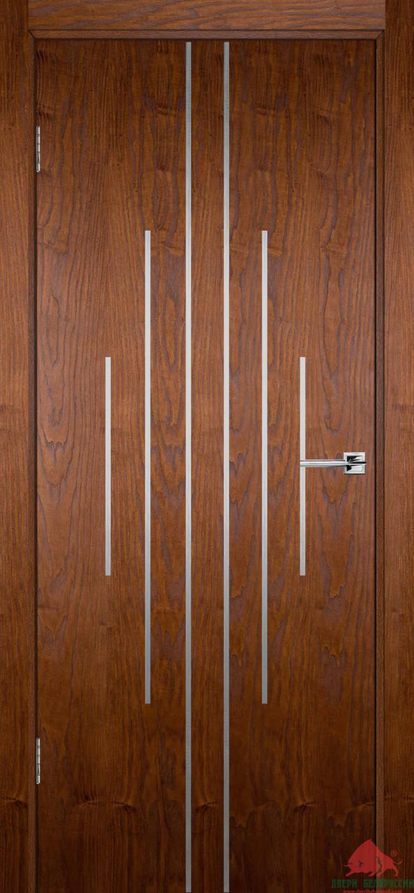 Двері міжкімнатні Двері Білорусії Флеш 11 світлий горіх ПГ