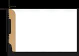Плинтус напольный DECOLUX DSK11015, лепной декор из дюрополимера, фото 2