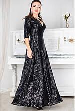 Вечернее платье Люкс черный пайетки с 42 по 60  размер (лб)