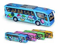 "Модель автобус 7"" KS7103W Dessert Bus метал.инерц.откр.дв.кор.ш.к./72/(KS7103W)"
